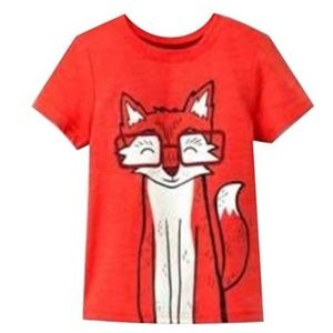Cat and Jack Fox Short Sleeve Graphic Tee-12 Month